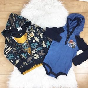 Other - KIDS: NWT 3 Piece Adventure Hoodie, Tee and onesie
